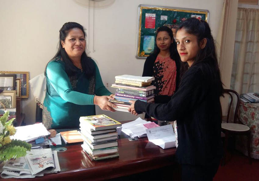 Distribution of Books / CD's -1