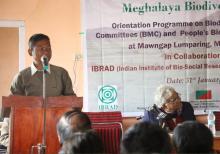 Dr N.J.K.Lakadong giving a speech