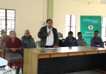 Shri P. Khonglah, BDO Umsning addressing the awareness meeting